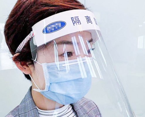clear face shield protective face shield
