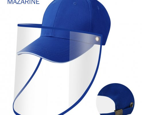 baseball cap with face shield attached