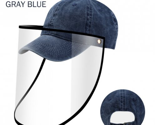 baseball cap with plastic face shield wholesale supplier