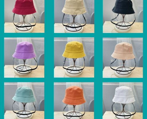 bucket hat with face shield for kids O1CN018539cC2EJdrf2EJai 682678724