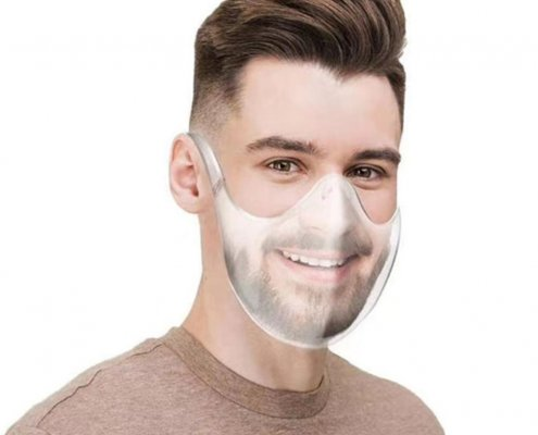 clear face shield for mouth for adults