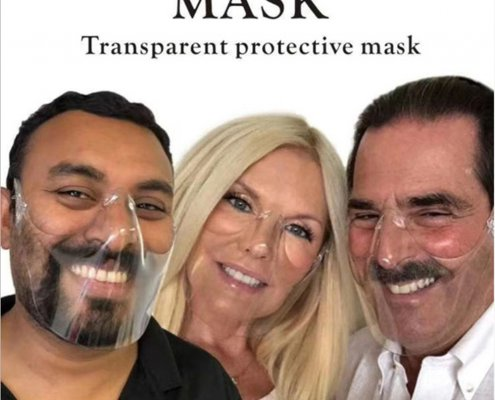 popular lightweight clear face shield for mouth