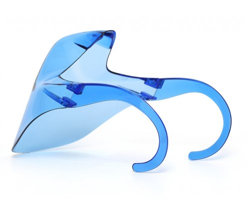 blue translucent clear face shield for mouth