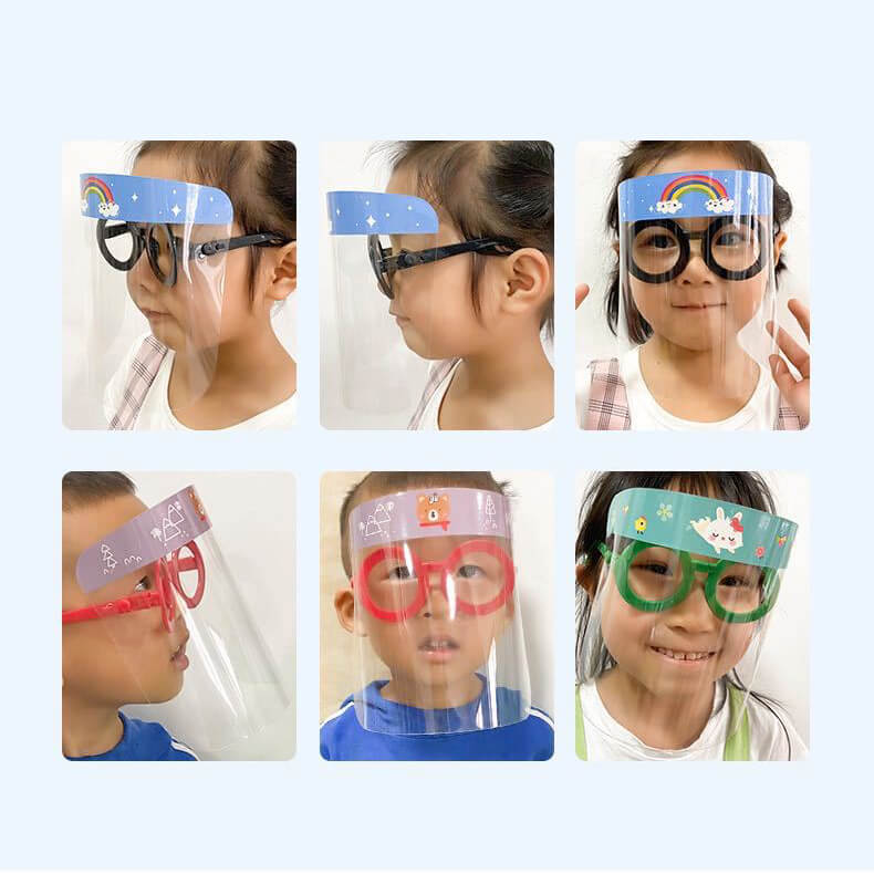 clear face shield with goggles for children